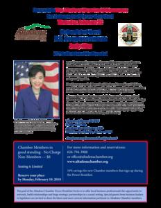 Congresswoman Judy Chu Flyer