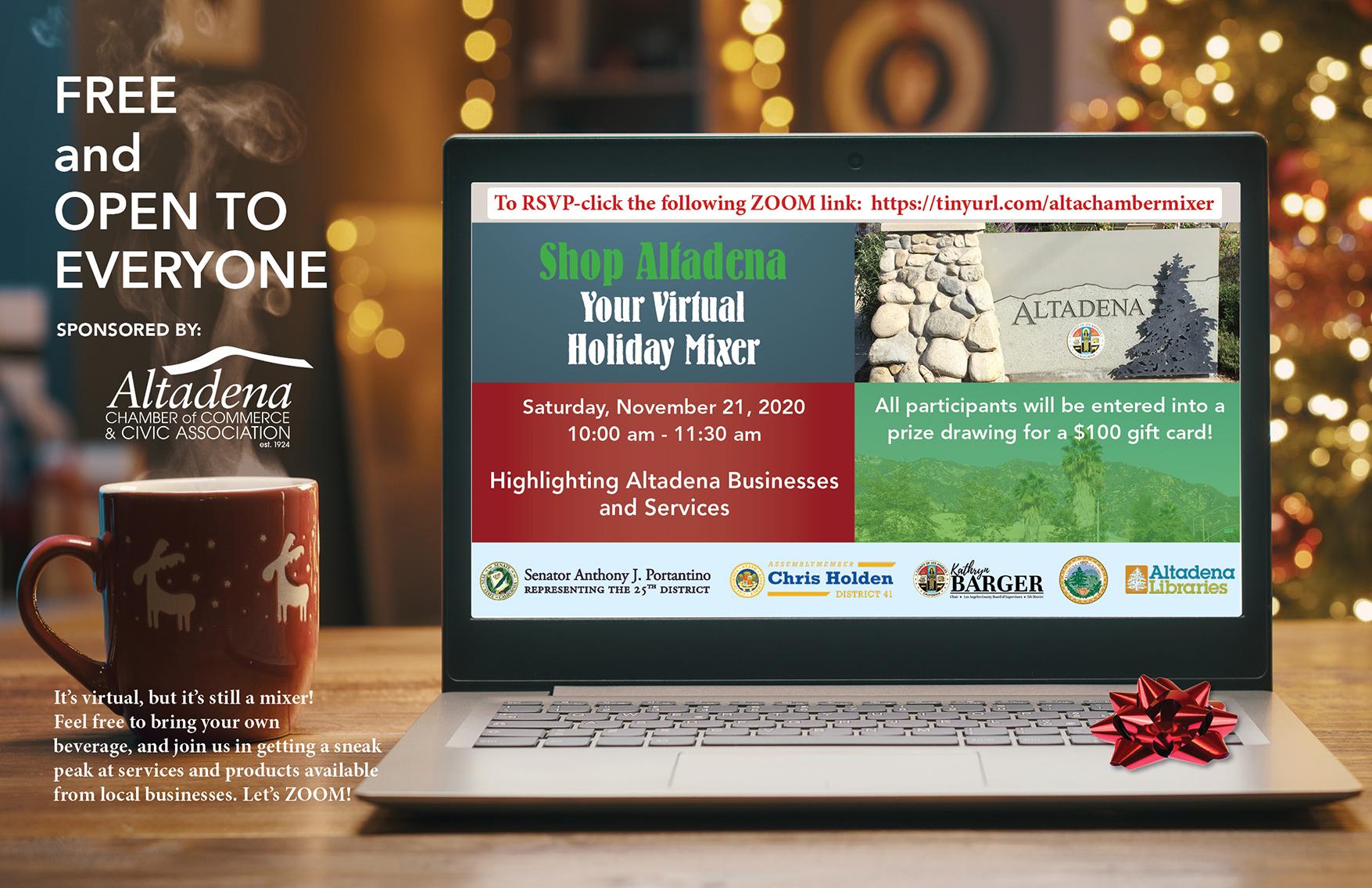 Shop Altadena's 2020 Virtual Holiday Mixer